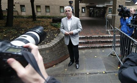 Publicist Max Clifford leaves Southwark Crown Court in London