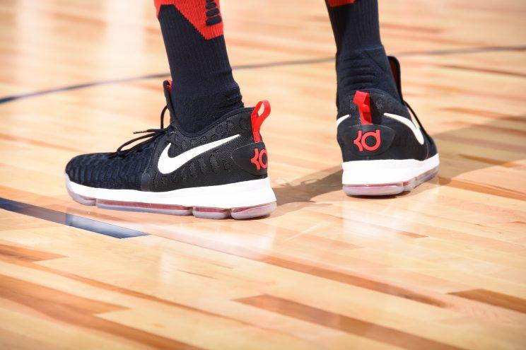 Kevin Durant's Nike KD9. (Getty)
