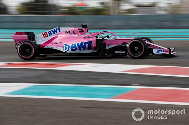 "Lance Stroll, Force India/Racing Point, 2018 <span class=""copyright"">Zak Mauger / Motorsport Images</span>"