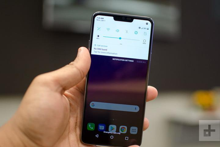 lg g7 thinq hands on full notification shade