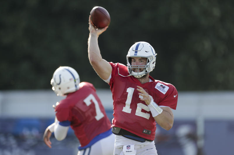Indianapolis Colts quarterback Andrew Luck played Thursday for the first time since the end of the 2016 season. (AP)