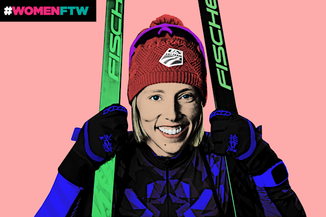 Meet Kikkan Randall, the five-time Olympian who's inspiring women to participate in sports. (Photo: Getty Images; Quinn Lemmers for Yahoo Lifestyle)