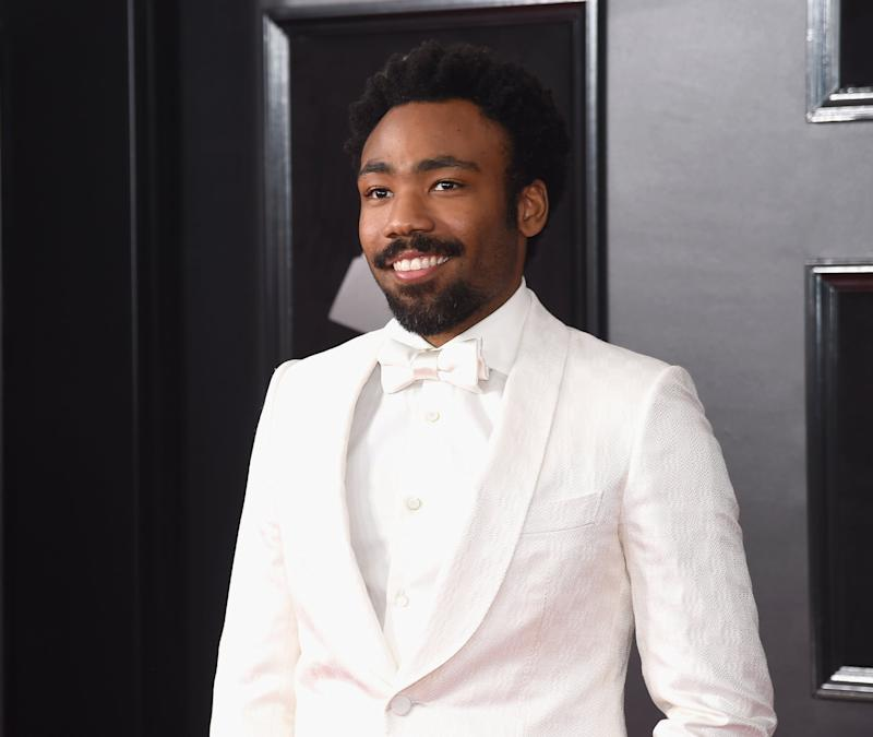 NEW YORK, NY - JANUARY 28: Recording artist Donald Glover aka Childish Gambino attends the 60th Annual GRAMMY Awards at Madison Square Garden on January 28, 2018 in New York City. (Photo by Jamie McCarthy/Getty Images)