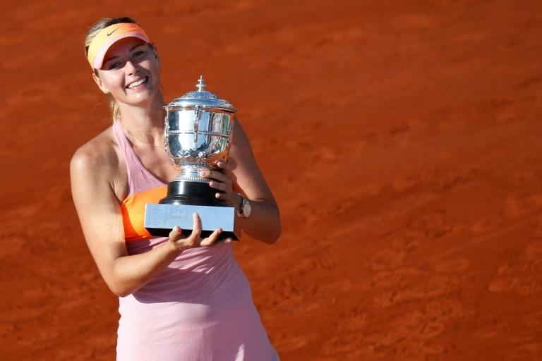 Maria Sharapova most recent Grand Slam victory was at the French Open in 2014 (AFP Photo/KENZO TRIBOUILLARD)