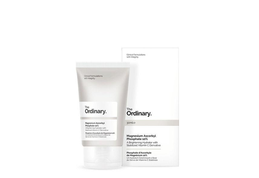 """DermatologistErumIlyas of <strong><a href=""""http://montgomery-dermatology.com/"""" target=""""_blank"""" rel=""""noopener noreferrer"""">Montgomery Dermatology</a></strong> recommends first-time users try <strong><a href=""""https://fave.co/2T9QECm"""" target=""""_blank"""" rel=""""noopener noreferrer"""">The Ordinary's Magnesium Ascorbyl Phosphate 10%</a></strong>. It's a water-soluble derivative of Vitamin C, which is a fancy way of saying it's less potent than other forms of Vitamin C. """"If it's someone with lots of sun damage and looking for something more potent, I recommend <strong><a href=""""https://fave.co/2W9e0cW"""" target=""""_blank"""" rel=""""noopener noreferrer"""">the Vitamin C Suspension</a></strong>,"""" she says. """"The magnesium ascorbyl phosphate is effective and doesn't tend to feel uncomfortable when used.I'm a fan of The Ordinary — I think of their products as a spice rack. It's easier to modify routines day to day or week to week (or season to season) because their products have great ingredients. And, you can't argue with their price point.""""<br><br /><br>The Ordinary Magnesium Ascorbyl Phosphate 10% is <a href=""""https://fave.co/2T9QECm"""" target=""""_blank"""" rel=""""noopener noreferrer""""><strong>available at Beauty Expert</strong></a> for $10.50, or <strong><a href=""""https://fave.co/2Wc6C0n"""" target=""""_blank"""" rel=""""noopener noreferrer"""">SkinStore</a></strong> for $9.60<strong>.</strong>"""