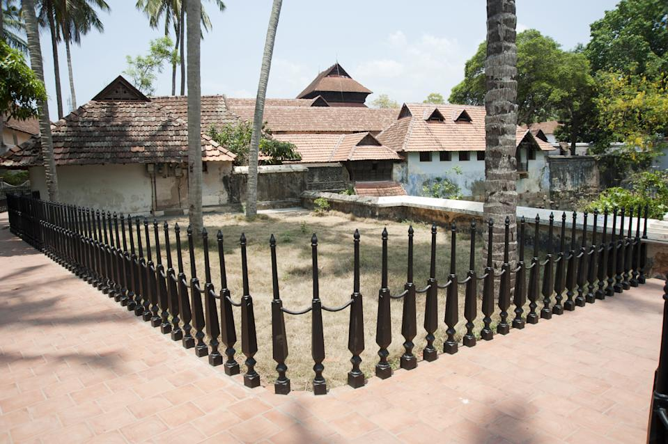 The top floor was supposed to be Sree Padmanabha Swamy's room. This building was constructed during the reign of King Marthandavarma. He was also designated as Padmanabha Dasa and used to rule the Travancore kingdom as a servant of Sree Padmanabha Swamy.
