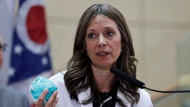 PHOTO: Ohio Department of Health Director Dr. Amy Acton gives an update on the state's preparedness and education efforts to limit the spread of COVID-19, in Cleveland, Feb. 27, 2020. (Tony Dejak/AP, FILE)