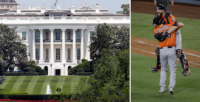 Will the Astros visit the White House? They're not all answering just yet. (AP)