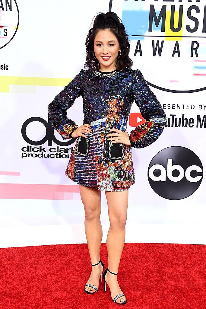 <p>Constance Wu attends the 2018 American Music Awards at Microsoft Theater on Oct. 9, 2018, in Los Angeles. (Photo: Steve Granitz/WireImage) </p>
