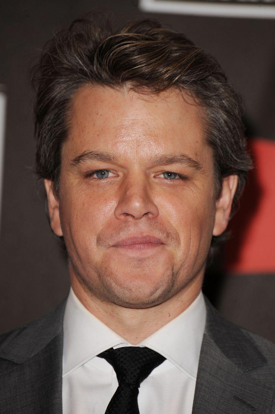 <p>Even since his <em>Good Will Hunting </em>days, Matt Damon has kept his hairstyle pretty consistent with a variation of short, polished cuts. </p>