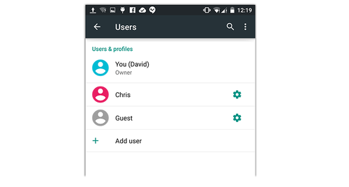 Android Lollipop user accounts