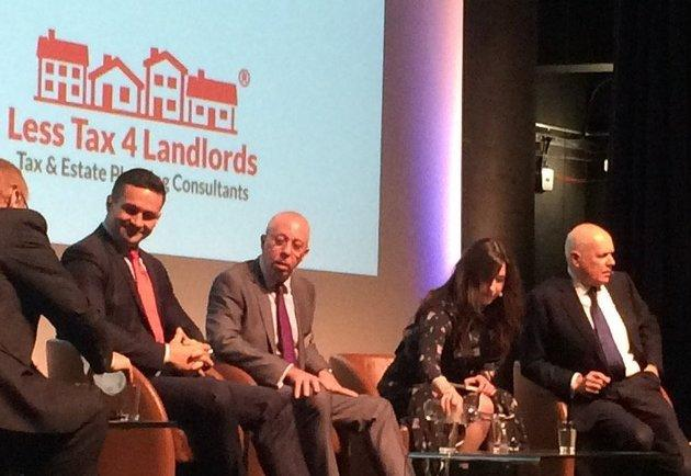 Iain Duncan Smith, far right, told a conference on Thursday that 'mistakes had been made' over taxation for landlords.