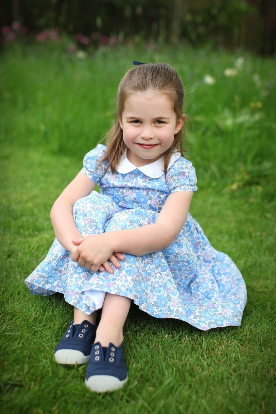 """<p>In celebration of Princess Charlotte's fourth birthday on May 2, 2019, the Duke and Duchess of Cambridge <a href=""""https://www.instagram.com/p/Bw72FBtlXmG/"""" rel=""""nofollow noopener"""" target=""""_blank"""" data-ylk=""""slk:shared a portrait"""" class=""""link rapid-noclick-resp"""">shared a portrait</a> of the young royal the Duchess took herself.</p>"""