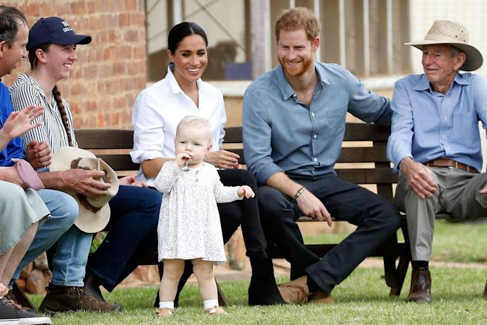 The Duke and Duchess of Sussex were given name suggestions while on their royal tour of Australia [Photo: Getty]