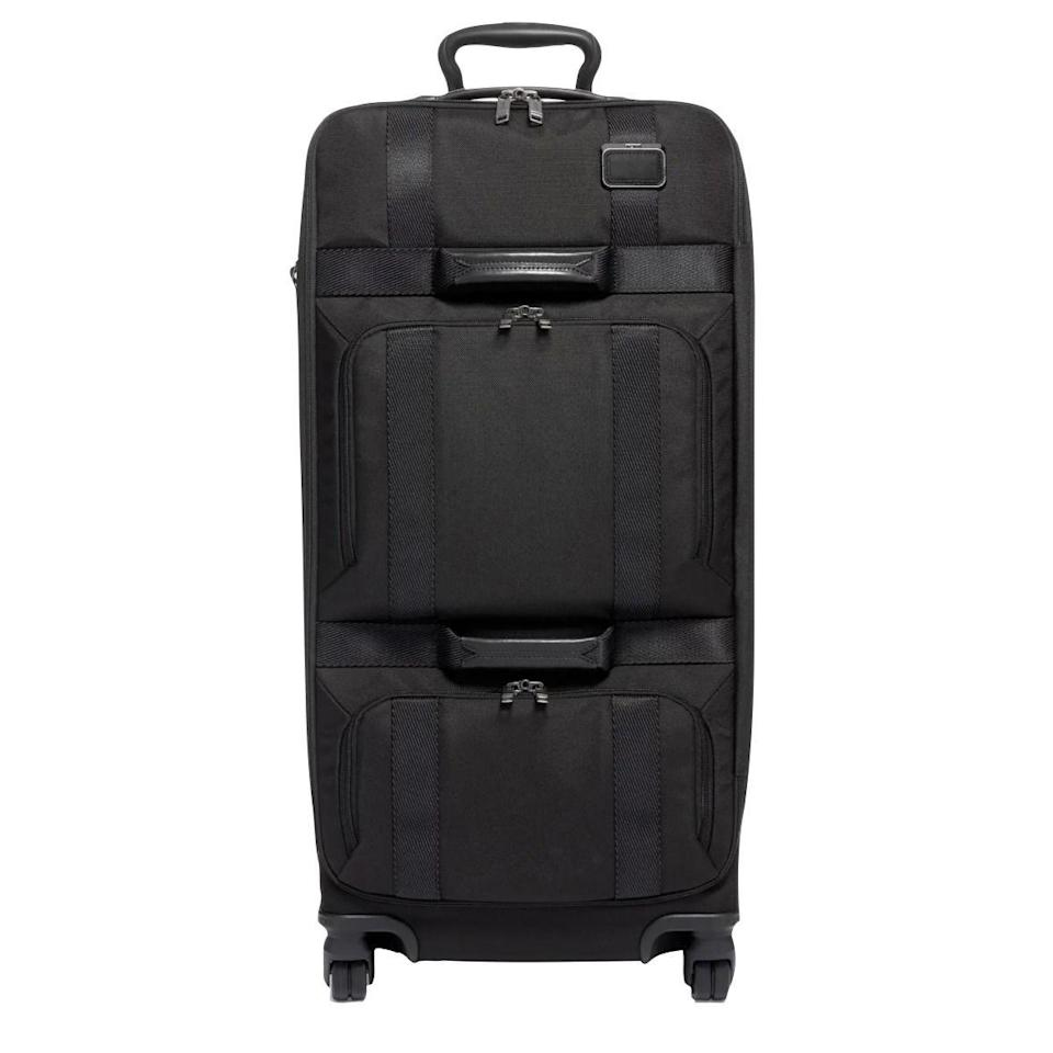 """<p><strong>Tumi</strong></p><p>nordstrom.com</p><p><a href=""""https://go.redirectingat.com?id=74968X1596630&url=https%3A%2F%2Fwww.nordstrom.com%2Fs%2Ftumi-merge-31-inch-wheeled-duffle-bag%2F5535698&sref=https%3A%2F%2Fwww.esquire.com%2Fstyle%2Fmens-accessories%2Fg36675557%2Fluggage-sale-nordstrom%2F"""" rel=""""nofollow noopener"""" target=""""_blank"""" data-ylk=""""slk:Shop Now"""" class=""""link rapid-noclick-resp"""">Shop Now</a></p><p><strong><del>$895</del> $715 (20% off)</strong></p>"""