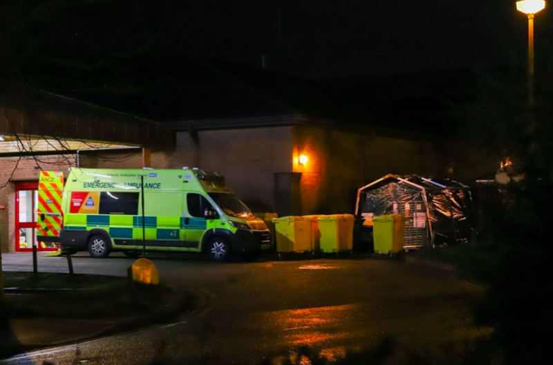 NHS England has stressed that the site is a failsafe to prevent those from entering the hospital with the illness and infecting others. (Reach)