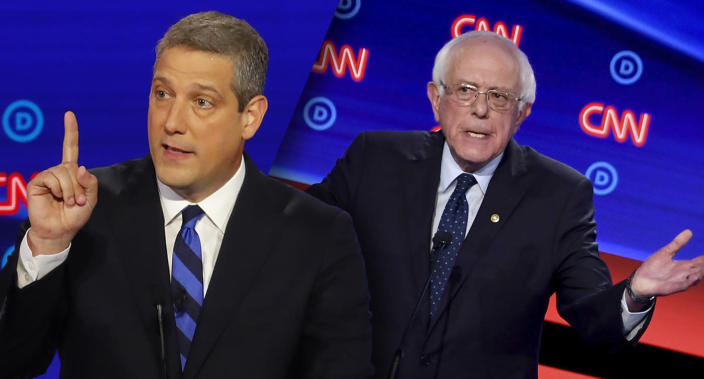 Tim Ryan and Bernie Sanders