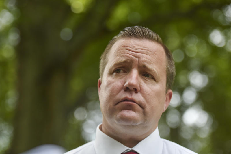 Corey Stewart is seen in July 2017. (Jahi Chikwendiu/The Washington Post via Getty Images)