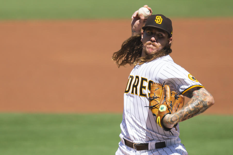 Mike Clevinger has agreed to a two-year extension with the Padres. (Photo by Matt Thomas/San Diego Padres/Getty Images)