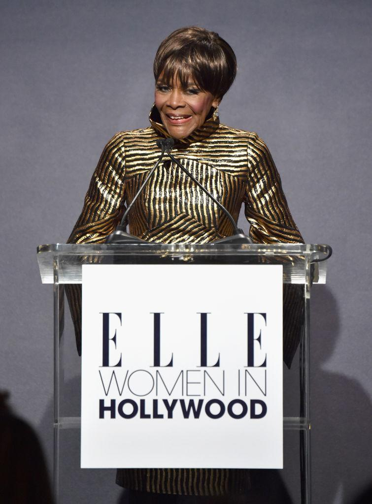 Cicely Tyson at <em>Elle</em>'s Women in Hollywood celebration in L.A. on Oct. 16, 2017. (Photo: Getty Images)