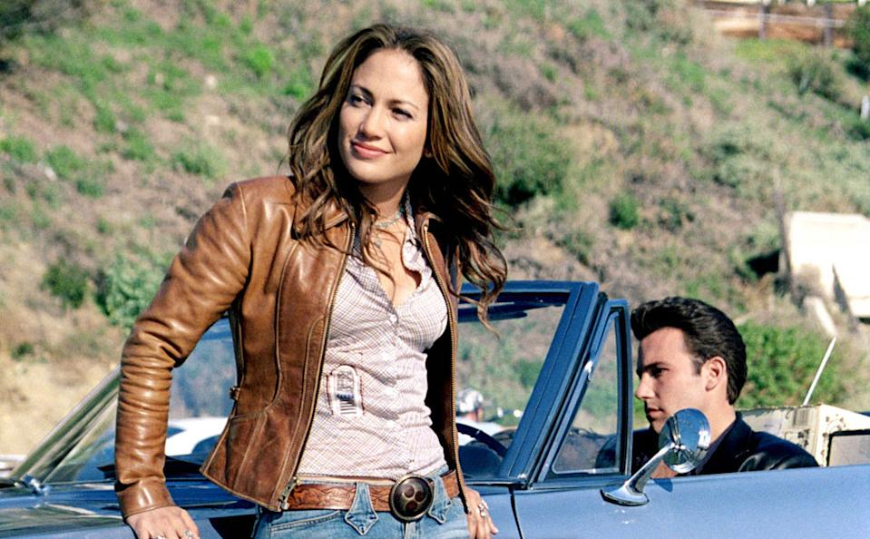 Jennifer Lopez and Ben Affleck in Gigli (credit: Sony Pictures)