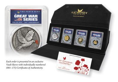 Pictured here, U.S. Money Reserve's exclusive Great War Series coin set.