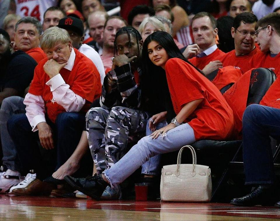 Travis Scott and Kylie Jenner in April 2017