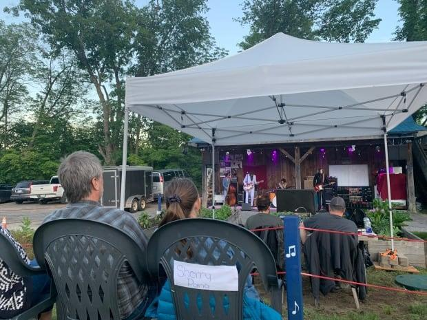 Live music at outdoor settings has returned to Ontario. (Joseph Tunney/CBC - image credit)
