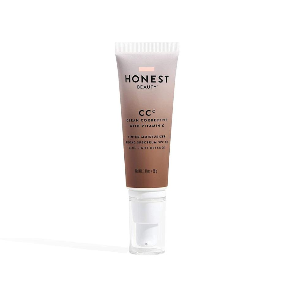 "<p><strong>Honest Beauty</strong></p><p>amazon.com</p><p><strong>$21.99</strong></p><p><a href=""https://www.amazon.com/dp/B083ZTGKRJ?tag=syn-yahoo-20&ascsubtag=%5Bartid%7C10072.g.33431155%5Bsrc%7Cyahoo-us"" rel=""nofollow noopener"" target=""_blank"" data-ylk=""slk:SHOP NOW"" class=""link rapid-noclick-resp"">SHOP NOW</a></p><p>Despite being as gentle as can be—it's a vegan non-comedogenic formula, says <a href=""http://www.drjaliman.com/debra-jaliman-md.html"" rel=""nofollow noopener"" target=""_blank"" data-ylk=""slk:Dr. Debra Jaliman"" class=""link rapid-noclick-resp"">Dr. Debra Jaliman</a>, a board-certified dermatologist in NYC—this tinted moisturizer packs a punch. In addition to hydrating for up to 12 hours, it also primes skin for makeup, conceals and smooths blemishes, plus contains a broad spectrum SPF that protects skin from the sun's harmful rays. </p>"