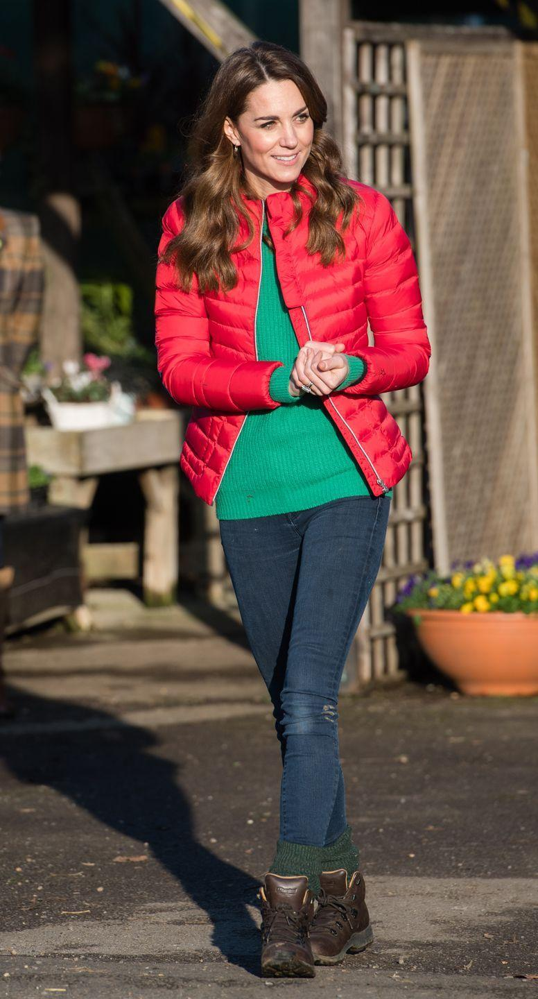 """<p>The Duchess of Cambridge joins families and children who are supported by the charity Family Action at Peterley Manor Farm. She wore quilted jacket by <a href=""""https://www.shopbop.com/perfect-moment/br/v=1/49525.htm?all"""" rel=""""nofollow noopener"""" target=""""_blank"""" data-ylk=""""slk:Perfect Moment"""" class=""""link rapid-noclick-resp"""">Perfect Moment</a>. </p>"""