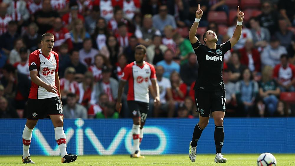 Chicharito West Ham - Southampton