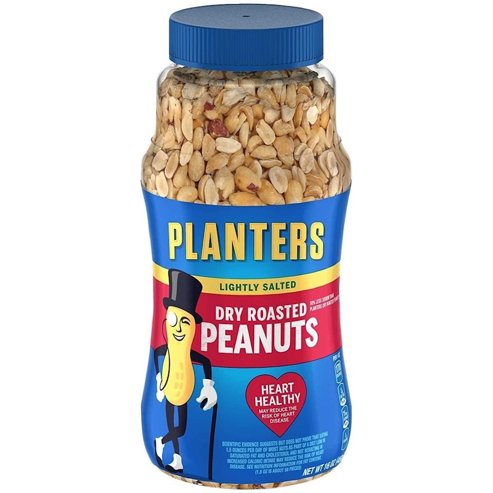 <p>These <span>Planters Lightly Salted Dry Roasted Peanuts</span> ($15) are easy to snack on, and you'll like their crunchy, oil-free texture.</p>