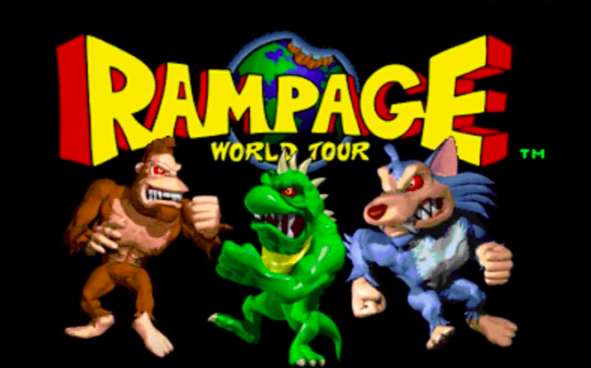 'Rampage' video game title screen