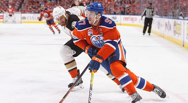 <p>The Oilers are expected to sign Connor McDavid to an eight-year, $106M contract. (Jason Franson/CP) </p>