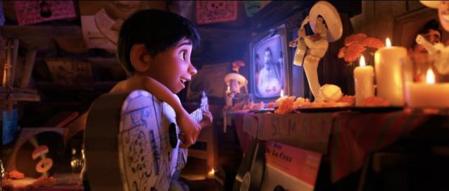 Miguel's shrine to Ernesto de la Cruz. (Image: Disney-Pixar)