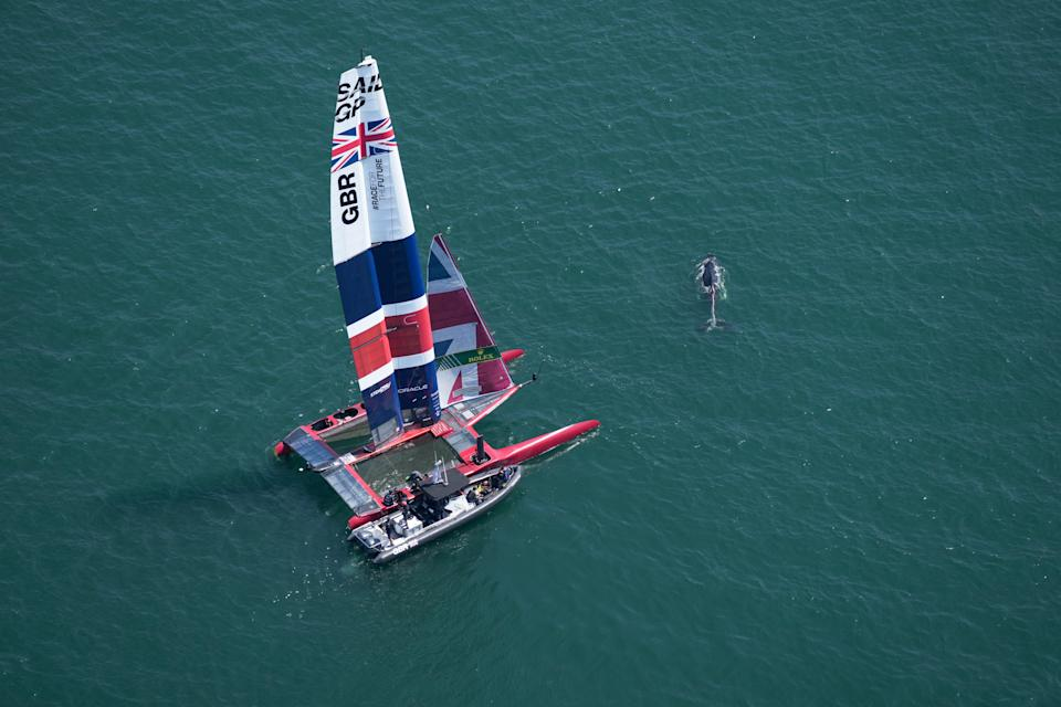Team GB will have to wait to claim medals in the sailing (Thomas Lovelock/SailGP/PA) (PA Media)