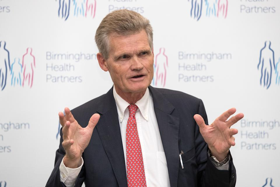 Reguis Professor of Medicine at the University of Oxford Sir John Bell speaks at the launch of the life sciences industrial strategy at the University of Birmingham's Institute of Translational Medicine, in Birmingham.