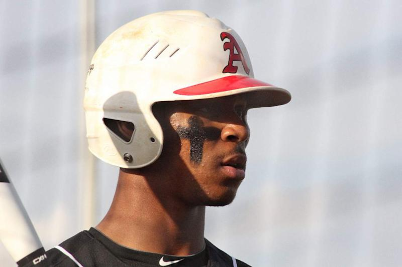 This undated photo provided by Appling County High School shows baseball player Byron Buxton. The Houston Astros have the No. 1 pick in the baseball draft, Monday night, June 4, 2012 in Secaucus, N.J. They hope to get an impact player this time around, with Stanford right-hander Mark Appel, Florida catcher Mike Zunino, LSU righty Kevin Gausman and Georgia high school outfielder Byron Buxton expected to go early in the first round. (AP Photo/Appling County High School)