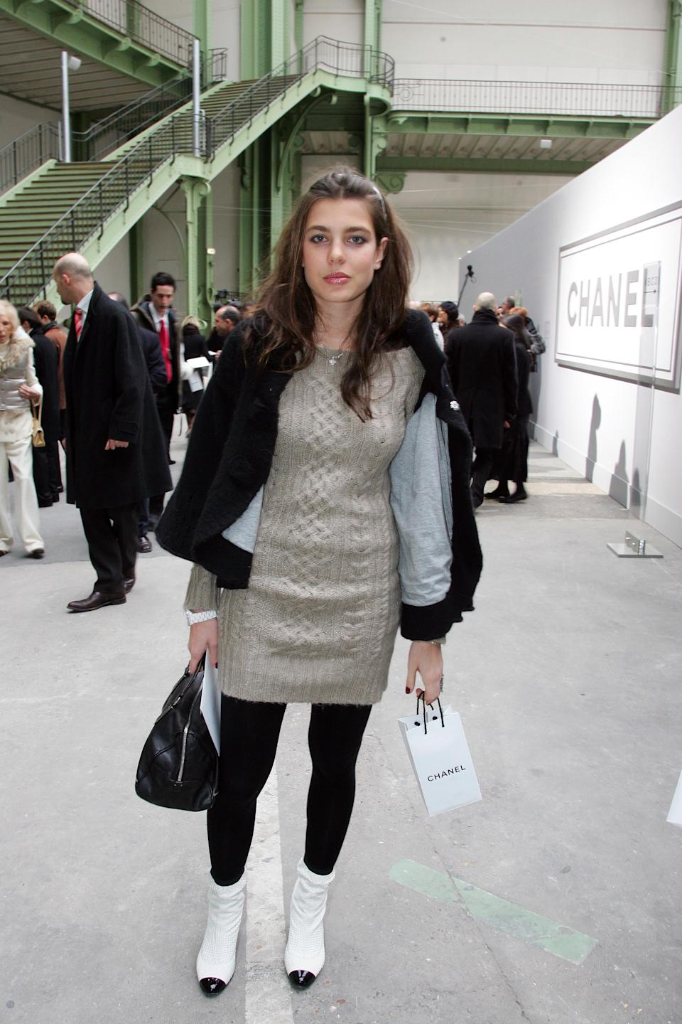 PARIS- JANUARY 23:  Charlotte Casiraghi attends the Chanel Fashion show, during Paris Fashion Week (Haute Couture) Spring-Summer 2007 at Grand Palais on January 23, 2007 in Paris, France.  (Photo by Michel Dufour/WireImage)