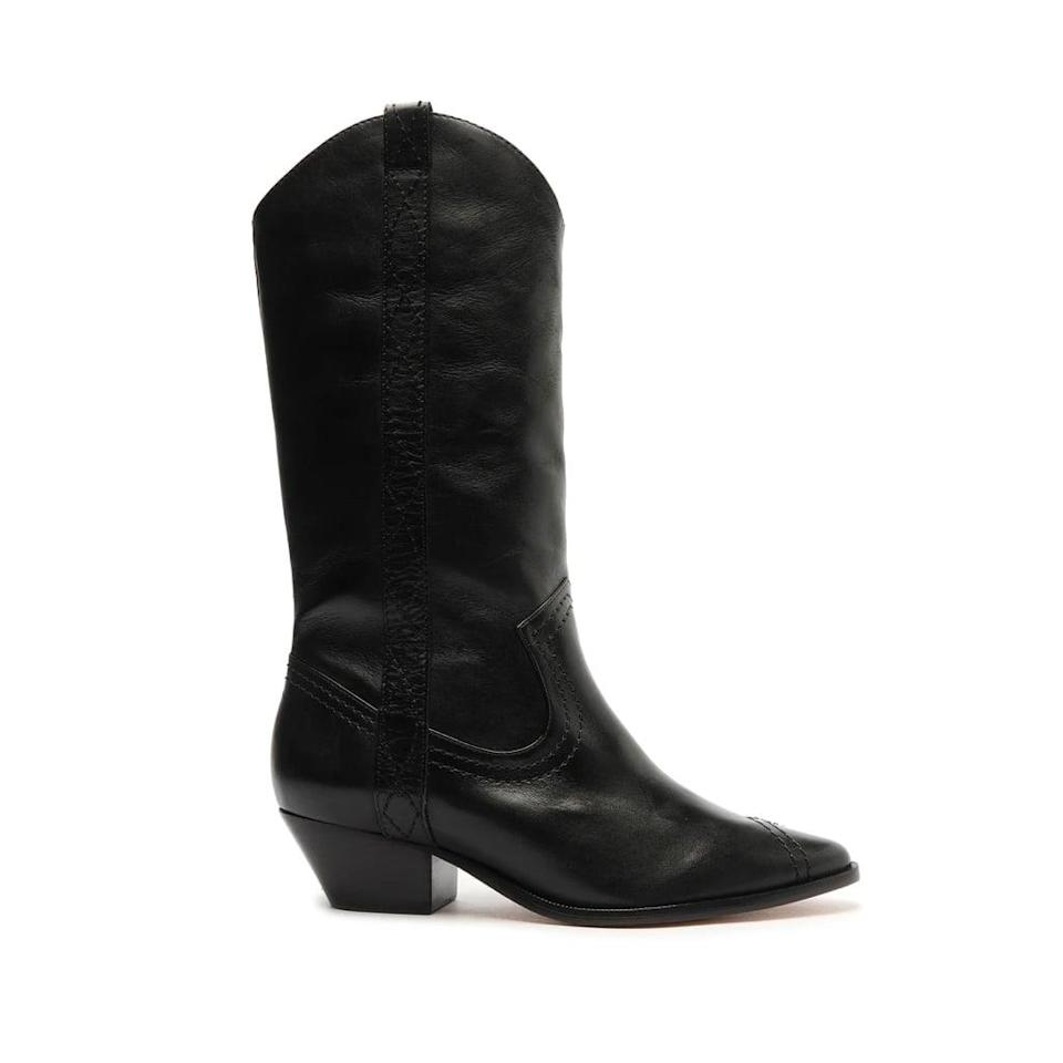 <p>These <span>Schutz Allison Leather Boots</span> ($168) are always going to be stars in your closet. They're easy to style, and they have just the right heel height to look good with everything.</p>