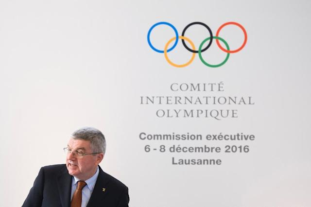 IOC president Thomas Bach accused the NHL of being greedy in refusing to participate in the 2018 Olympic Games (AFP Photo/FABRICE COFFRINI)