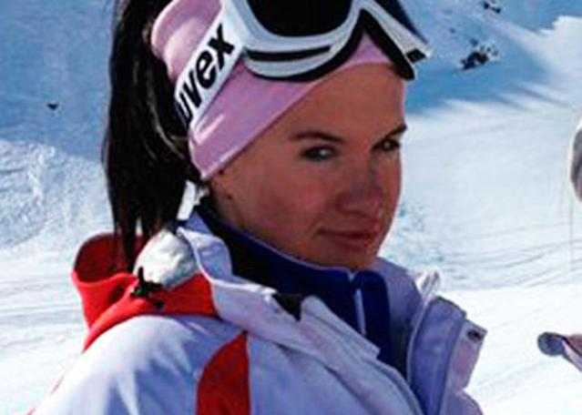 This undated photo provided by the Russian freestyle federation shows Russian skicross racer Maria Komissarova at an unknown location. Russian officials said Komissarova broke and dislocated her spine during an Olympic training accident at the Rosa Khutor Extreme Park in Krasnaya Polyana, Russia, Saturday, Feb. 15, 2014 and was taken into emergency surgery. (AP Photo/Russian freestyle federation)
