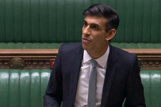 Rishi Sunak delivering the budget on Wednesday 8 July (PA)