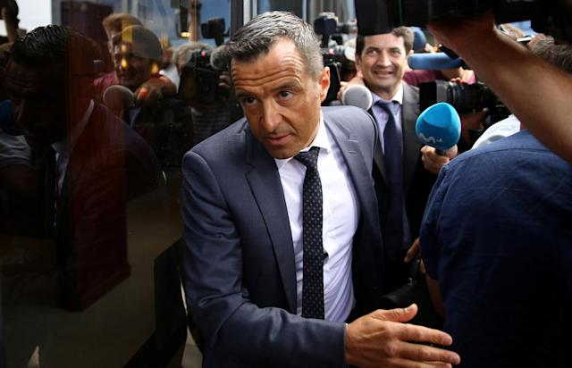 FILE PHOTO: Soccer agent Jorge Mendes arrives to court to testify as part of the investigation of alleged tax fraud committed by former Atletico Madrid player Radamel Falcao, in Pozuelo de Alarcon, outside Madrid, Spain, June 27, 2017. REUTERS/Sergio Perez/File Photo