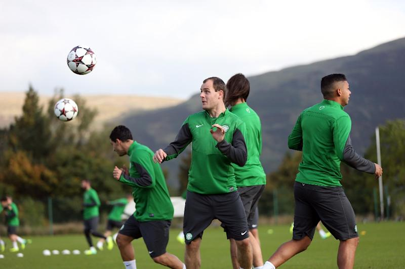 File photo of Celtic's striker Anthony Stokes taking part in a training session with teammates at Lennoxtown Training facility near Glasgow, Scotland, taken in September 2013