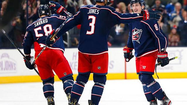 Werenski's OT goal lifts Blue Jackets over Blues 3-2