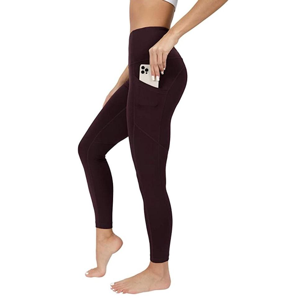 """<p><strong>Reviews & rating:</strong> 21,944 reviews, 4.4 out of 5 stars.</p> <p><strong>Key selling points:</strong> These leggings can do it all — they're thick and structured enough for intense workouts, but soft and flexible enough for lounging and everyday wear. Reviewers love the seamless design, pretty muted colors, and of course, the $19 price tag.</p> <p><strong>What customers say:</strong> """"I bought these on a whim at Marshall's and have since bought four more pairs. I don't even know where to begin — they're the most comfortable pants I've ever worn. They hold their shape throughout the day and come in a variety of vibrant colors. They're 100% squat-proof, unbelievably soft, and don't fade. Though I originally bought them for exercise, they work well as lounge pants, too."""" — <a href=""""https://amzn.to/3uQ3Gav"""" rel=""""nofollow noopener"""" target=""""_blank"""" data-ylk=""""slk:Alison"""" class=""""link rapid-noclick-resp""""><em>Alison</em></a><em>, reviewer on Amazon</em></p> $19, Amazon. <a href=""""https://www.amazon.com/90-Degree-Reflex-Waist-Interlink/dp/B081ZJHTNR/ref="""" rel=""""nofollow noopener"""" target=""""_blank"""" data-ylk=""""slk:Get it now!"""" class=""""link rapid-noclick-resp"""">Get it now!</a>"""