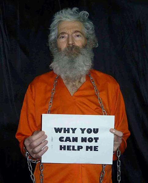 A photograph of the captive Bob Levinson released in January 2013 by his wife, who said the image was nearly two years old (AFP Photo/-)