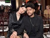 """The on-again, off-again couple has reportedly broken up, according to a report from <a href=""""https://www.eonline.com/news/1062718/bella-hadid-and-the-weeknd-are-officially-broken-up-again?cmpid=fb_reshare"""" rel=""""nofollow noopener"""" target=""""_blank"""" data-ylk=""""slk:E! News"""" class=""""link rapid-noclick-resp""""><em>E! News</em></a>. Work obligations and physical distance apparently played a factor in the decision. """"They are in different places right now, physically and mentally,"""" a source tells the outlet. """"Bella is prepping for her Fashion Week commitments, and Abel is working on his music and his upcoming acting debut."""" Per this source, Hadid and The Weeknd's conflicting schedules led to some friction. """"They have been arguing a lot recently,"""" the insider asserts. """"They] haven't spent quality time together in months."""" The silver lining, though, is the couple hopes to reconcile. Says the source, """"They hope to get back together at one point but for now are focusing on themselves and their projects."""""""
