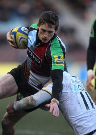 Harlequin's Tom Williams and Leeds Carnegie's Pete Wackett